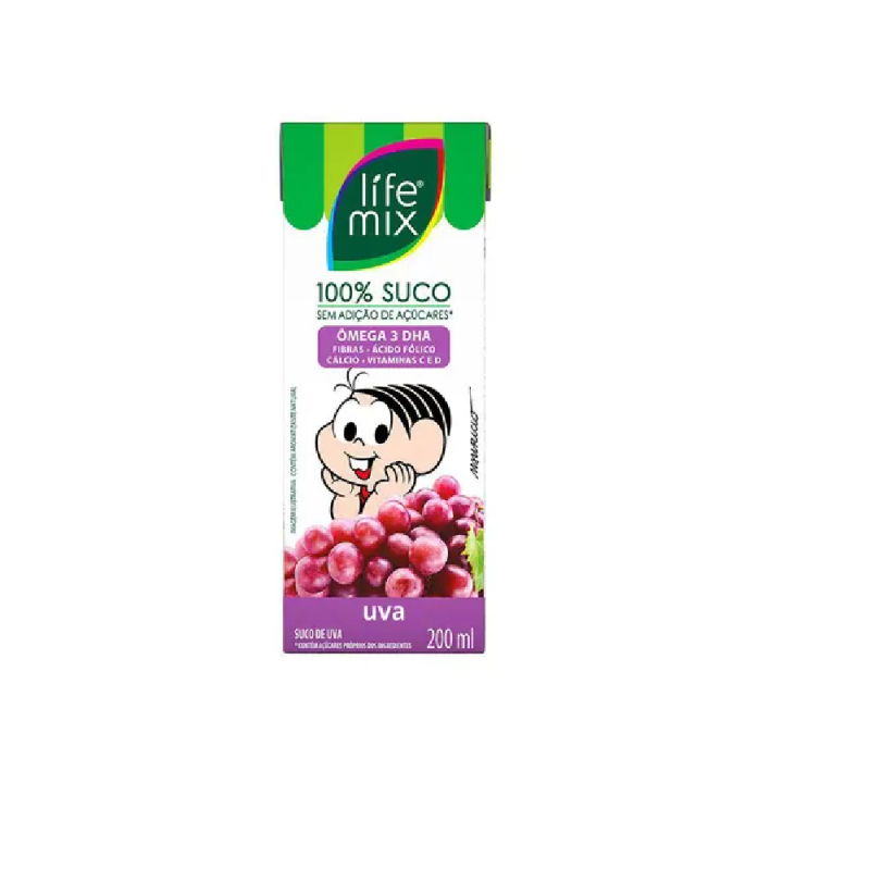 LIFE MIX 100% SUCO UVA 200ML
