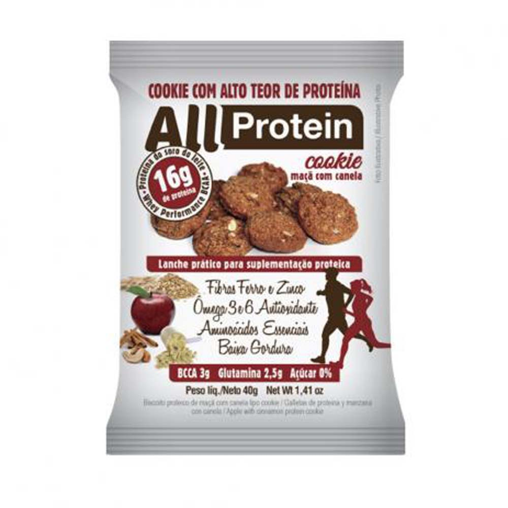 ALL PROTEIN COOKIE MAÇA C/ CAN 40G