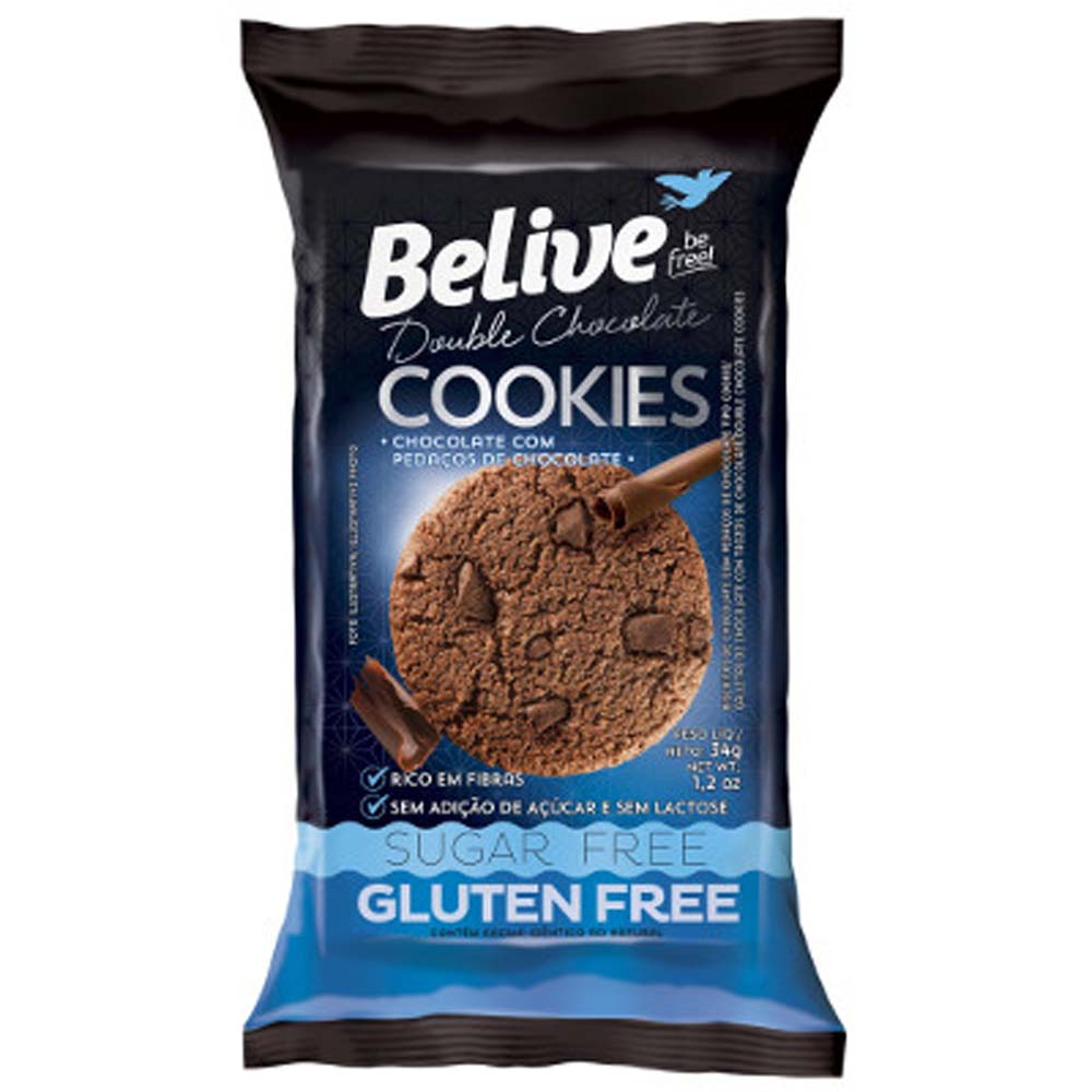 BELIVE COOKIES DOUBLE CHOCOLATE 34G