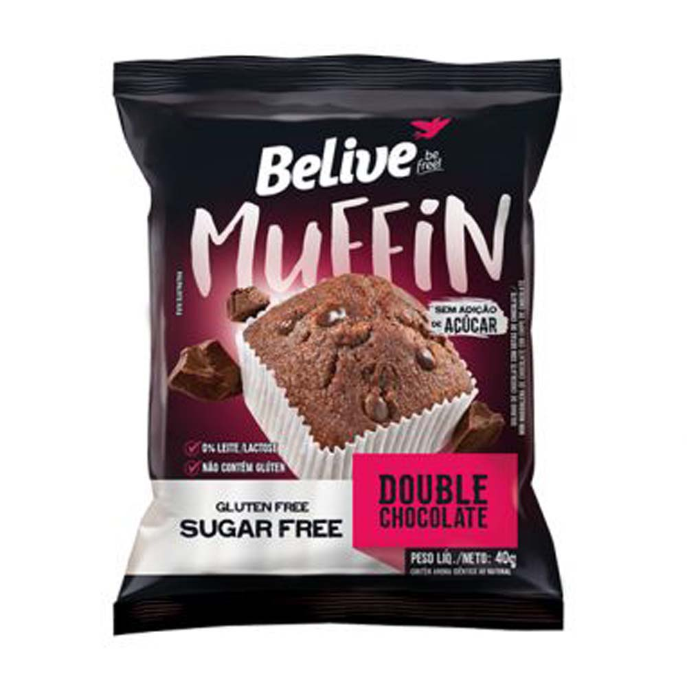 BELIVE MUFFIN DOUBLE CHOCOLATE 40G