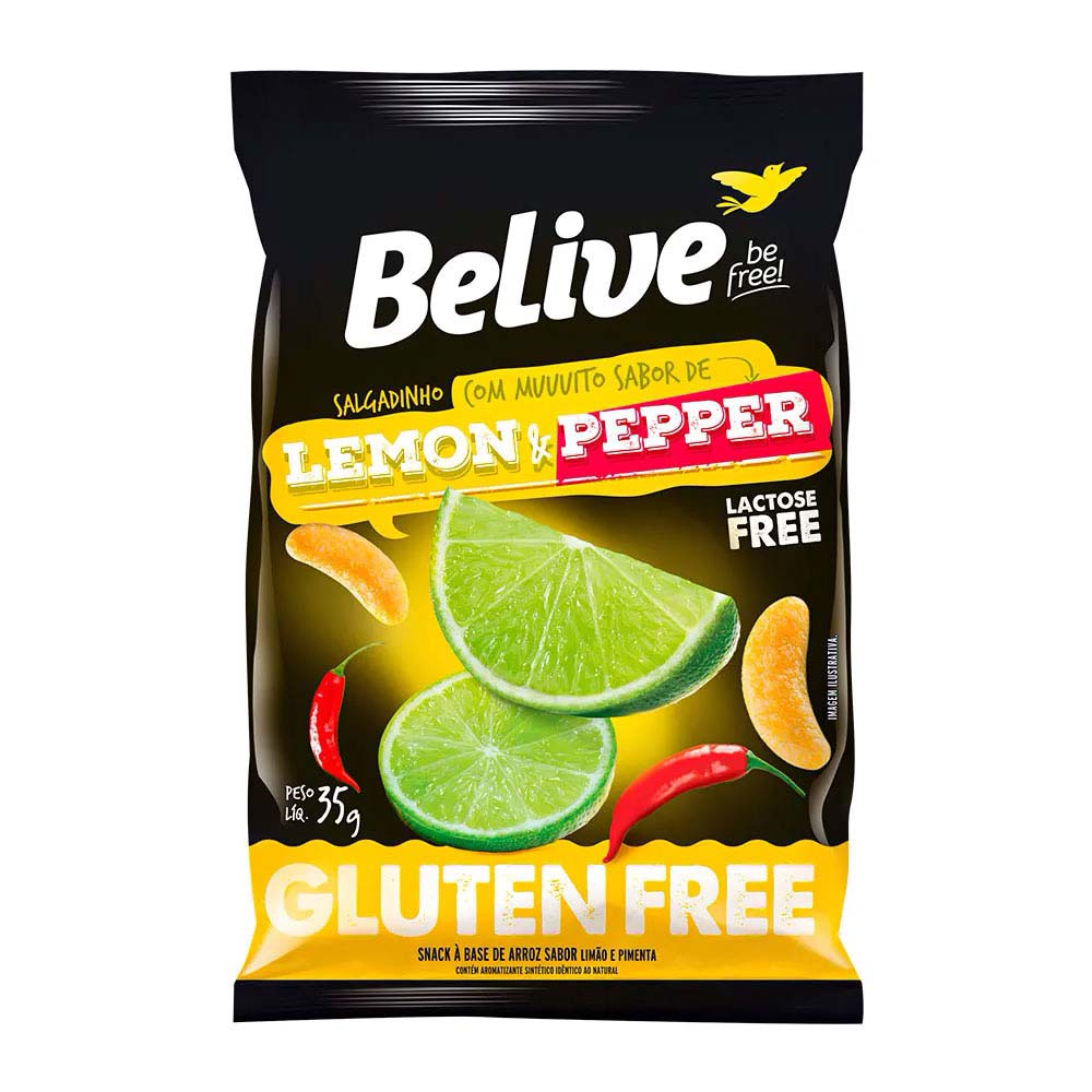 BELIVE SALGADINHO LEMON E PEPPER 35G