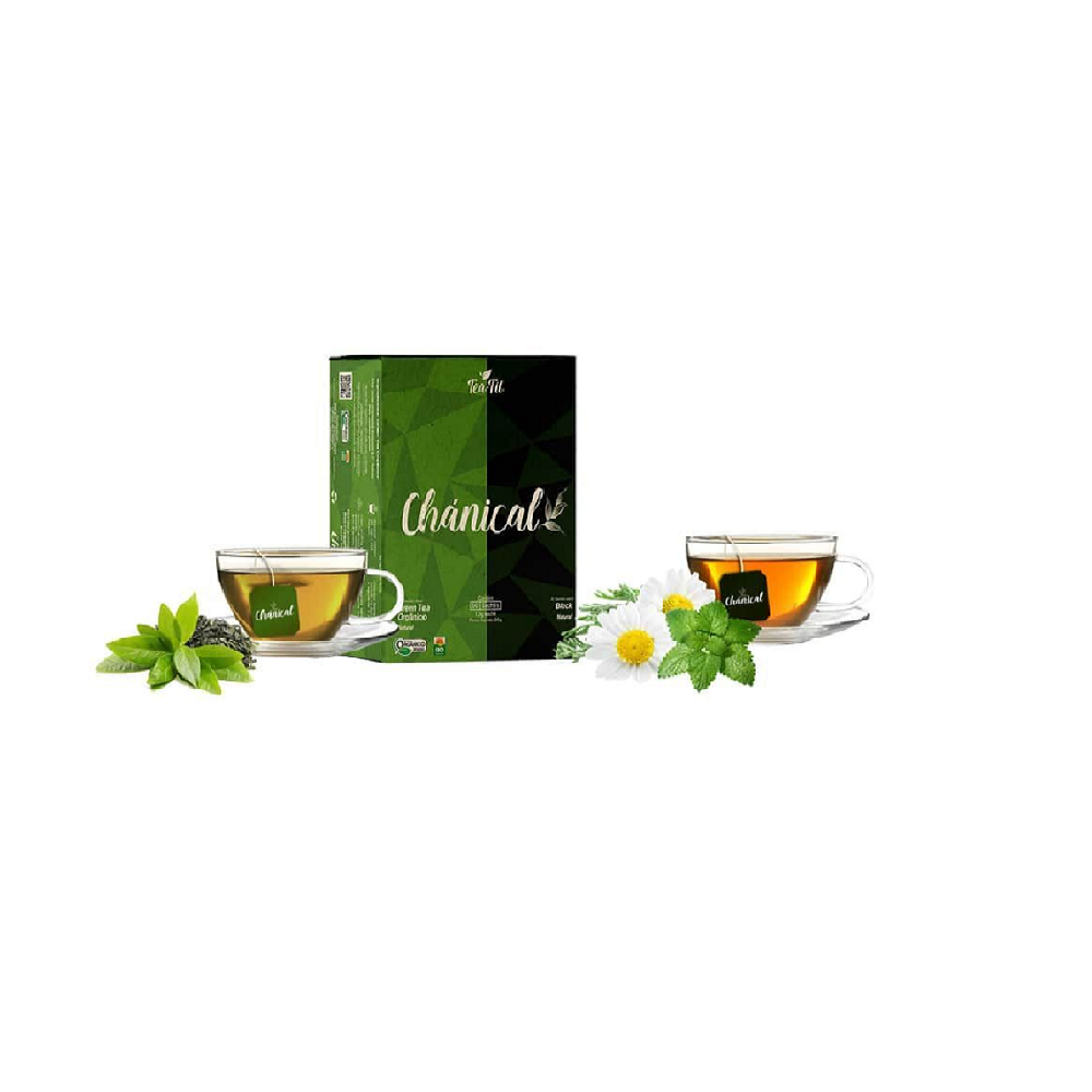 TEA FIT CHÁNICAL GREEN TEA / BLACK NATURAL 90G